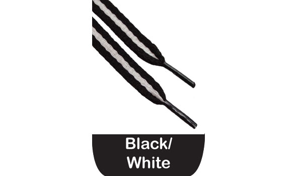 Black And White Shoe Laces Flat