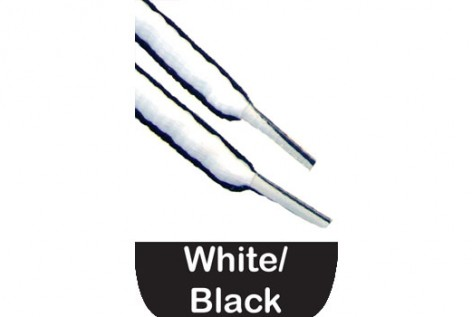Black And White Oval Shoe Laces