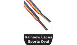 rainbow laces, oval rainbow shoelaces